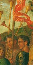 fool comparable, trumpeter detail, Mantegna triumph of caesar.png