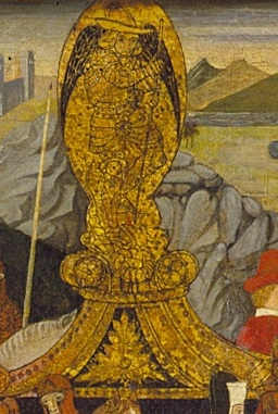 Darius setting out for battle, detail of St. George in gold nimbus.jpg